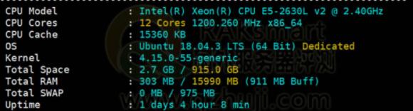 RAKsmart服务器配置