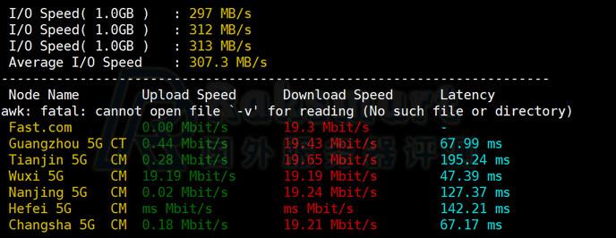 Raksmart韩国服务器IO读写能力测试