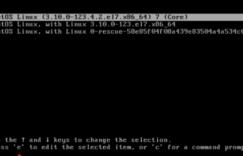 CentOS系统重置密码方法
