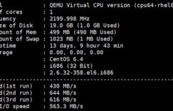 RAKsmart CN2 VPS配置和I/O测试
